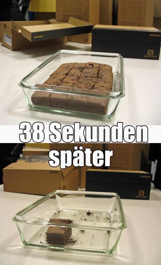 Ein Meme zur Brownie-Situation nach dem Lauf von Tobias Graser.