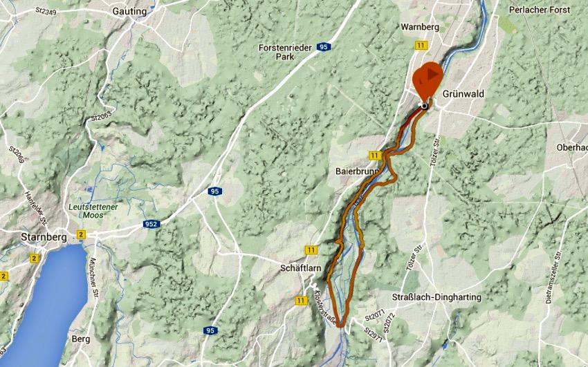 Unsere Trailrunning Route von meiner Suunto Ambit 3