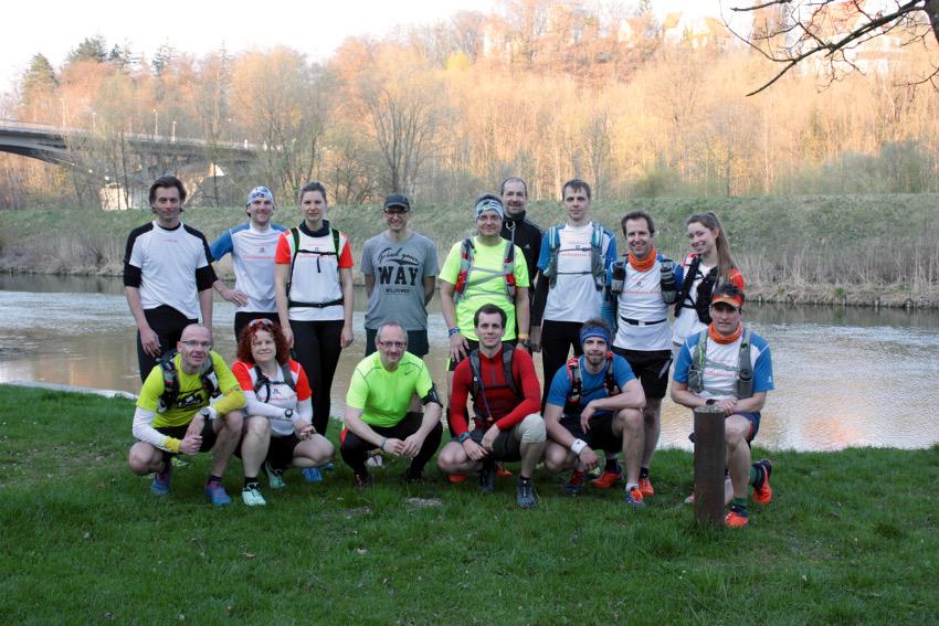 Unsere Laufgruppe bei der 4. Trailsession