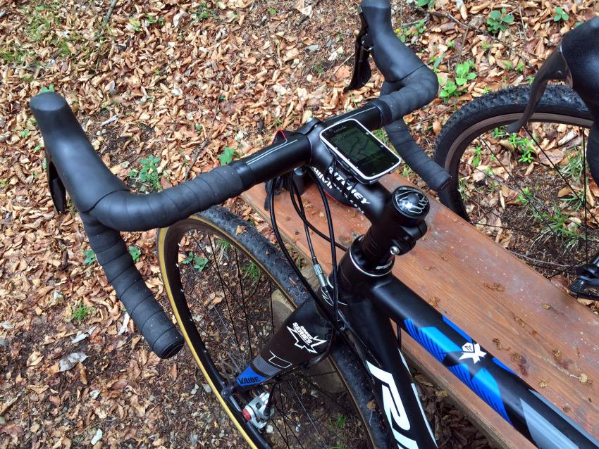 Super ausgerüstet mit dem Cyclocross Rad von Ridley und dem Navi von Garmin