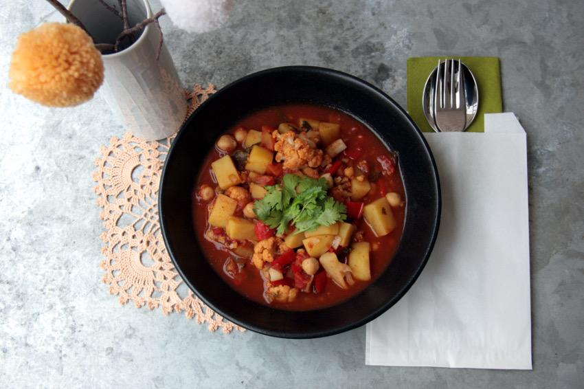 Das Kartoffel-Kichererbsen Curry - guten Appetit