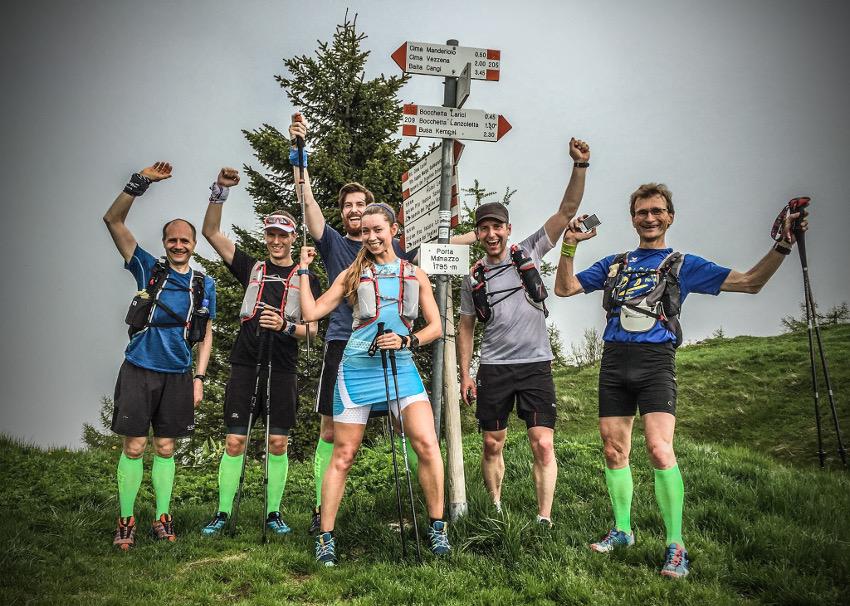 800 Höhenmeter am Stück liegen hinter uns. Da kann schon mal gejubelt werden! Foto: Philipp Reiter
