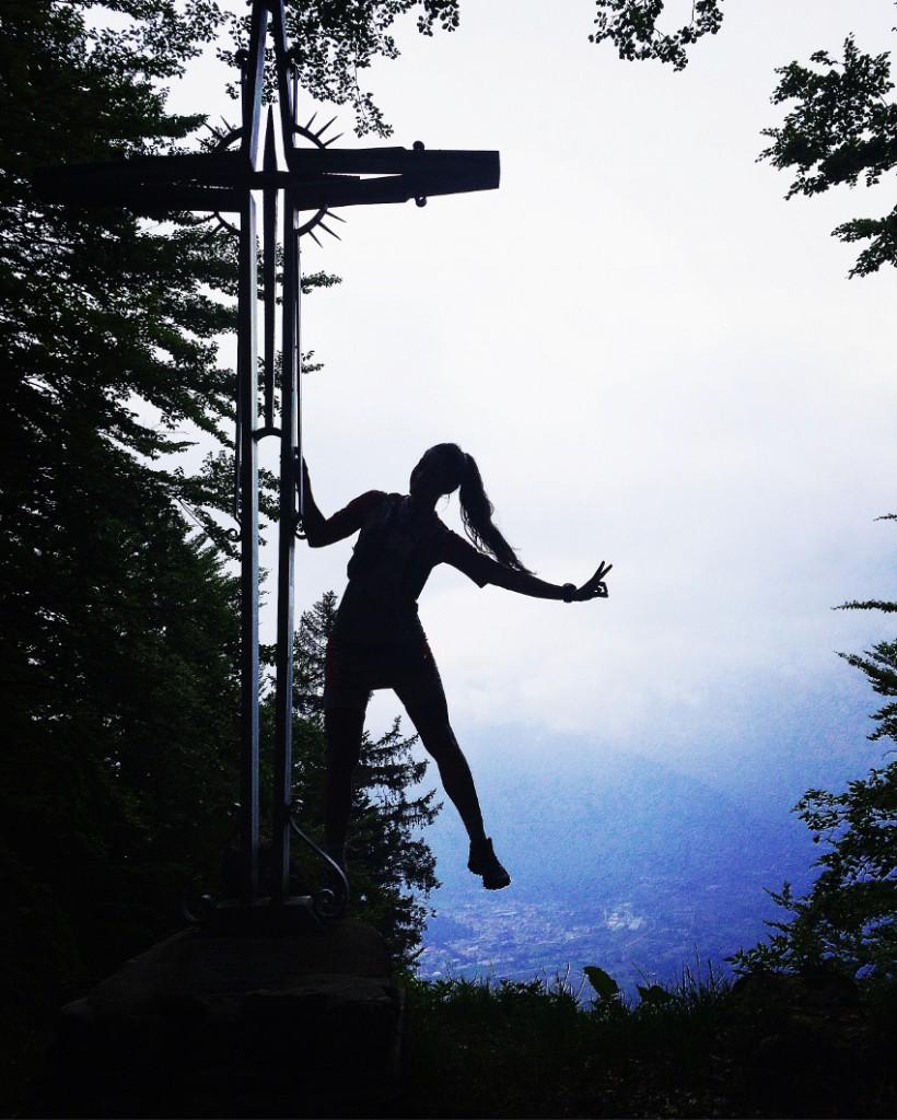 Das Gipfelkreuz am Monte Cimon. Foto: Philipp Reiter