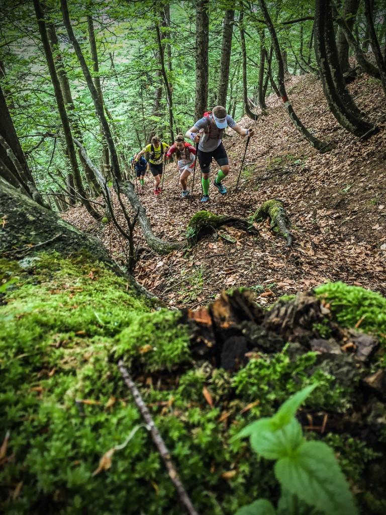 Der steile Aufstieg auf den Monte Cimon. Hier konnten wir ordentlich Höhenmeter sammeln und perfekt für die Anstiege beim Zugspitz Ultratrail trainieren. Foto: Philipp Reiter