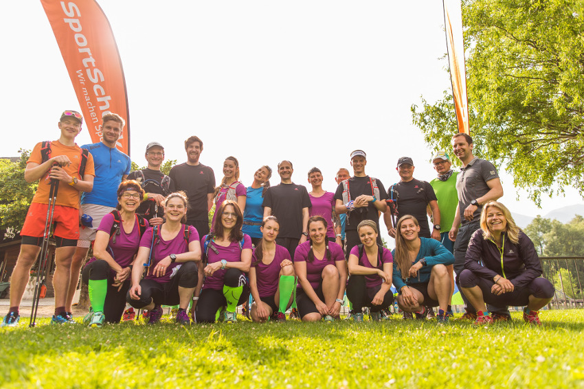 Unsere Gruppe vom Trailrunning Camp in Trentino 2016. Tolle Leute, beste Organisation! Ich komme nächstes Jahr wieder! Foto: Sportscheck