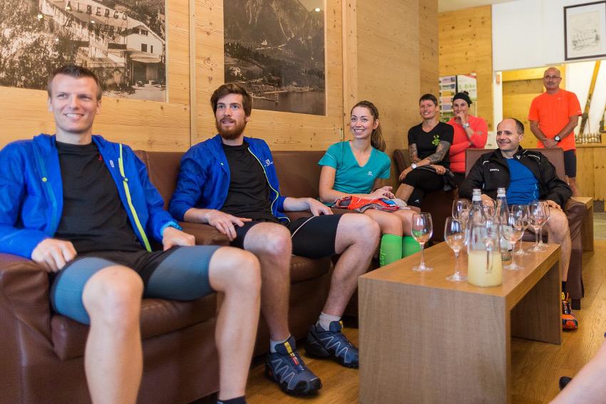Unsere Trailcamp Gruppe im Hotel du Lac in Levico Terme. Foto: SportScheck