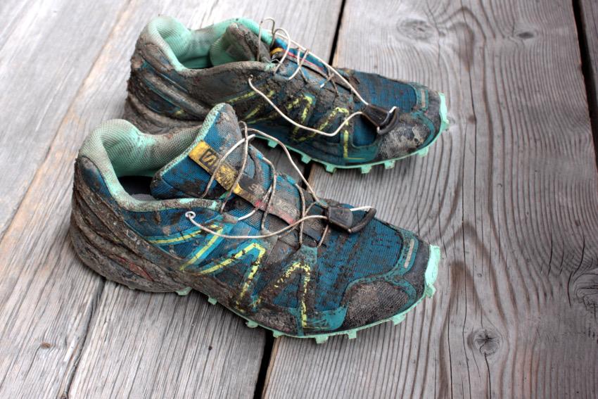 Meine Schuhe nach dem Basetrail XL.
