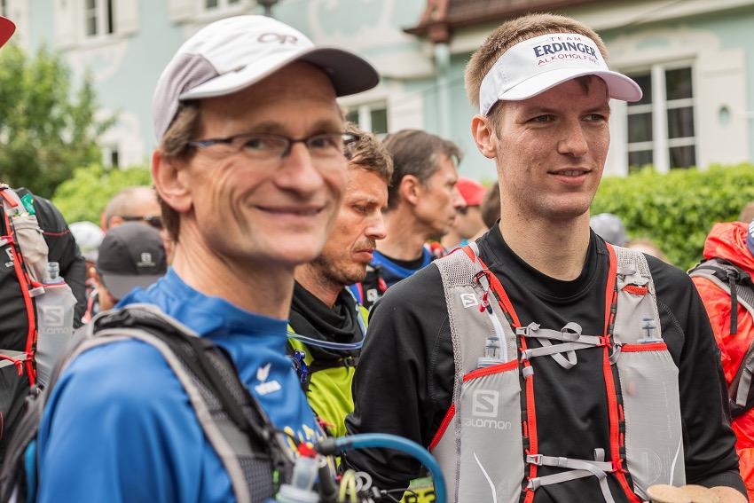 V.l.n.r. Willy und Patrick kurz vor dem Start des Basetrail XL in Mittenwald. Foto: SportScheck
