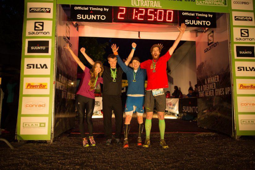 Glückliche Finisher des Zugspitz Ultratrail 2016. Foto: SportScheck