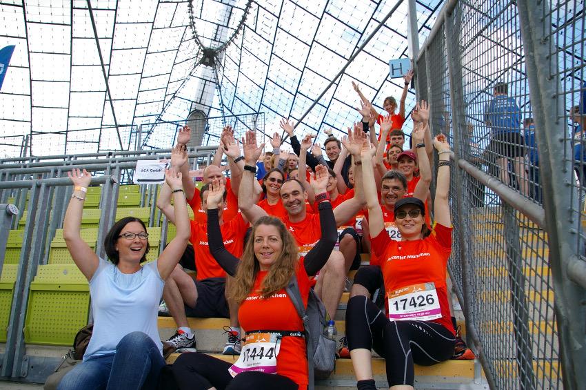 Ein Teil unserer großen Mannschaft. Foto: Jobcenter München