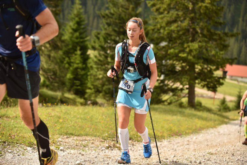 Der Aufstieg nach der 1. Verpflegungsstelle an der Ehrwalder Alm. Foto: Sportograf