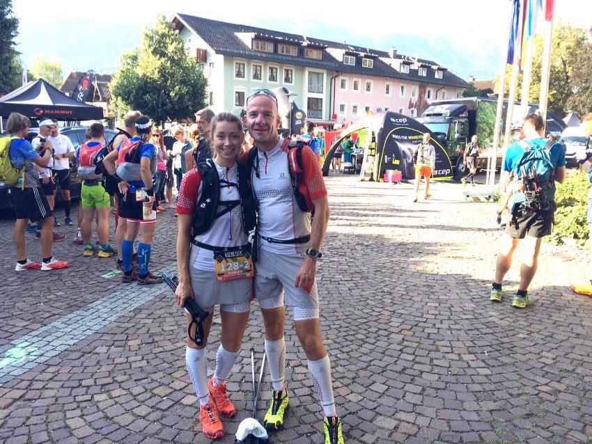 Kurz vor dem Start in Garmisch