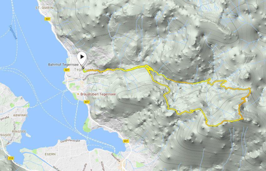 Unsere Route, aufgezeichnet mit meiner Suunto Ambit3 Sport.