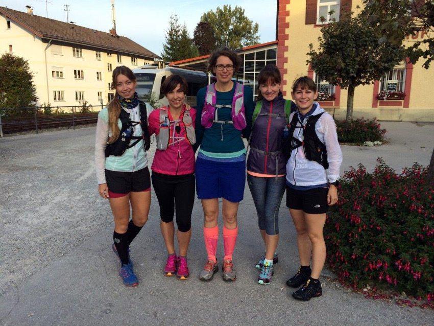 Mit diesen großartigen Mädels bin ich meine Lieblingsrunde am Tegernsee gelaufen. V.r.n.l.: Sabine, Ewelina, Steffi, Dagmar und ich.